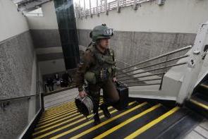 seguridad metro de santiago