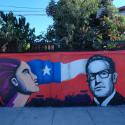 """""""La Mujer Pobladora y Allende"""" de Gery Plek y Pp. Cortesía Museo a Cielo Abierto La Pincoya"""