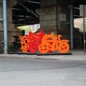 """""""Las Bicicletas"""" de Gilberto Aceves. © NYCDOT"""