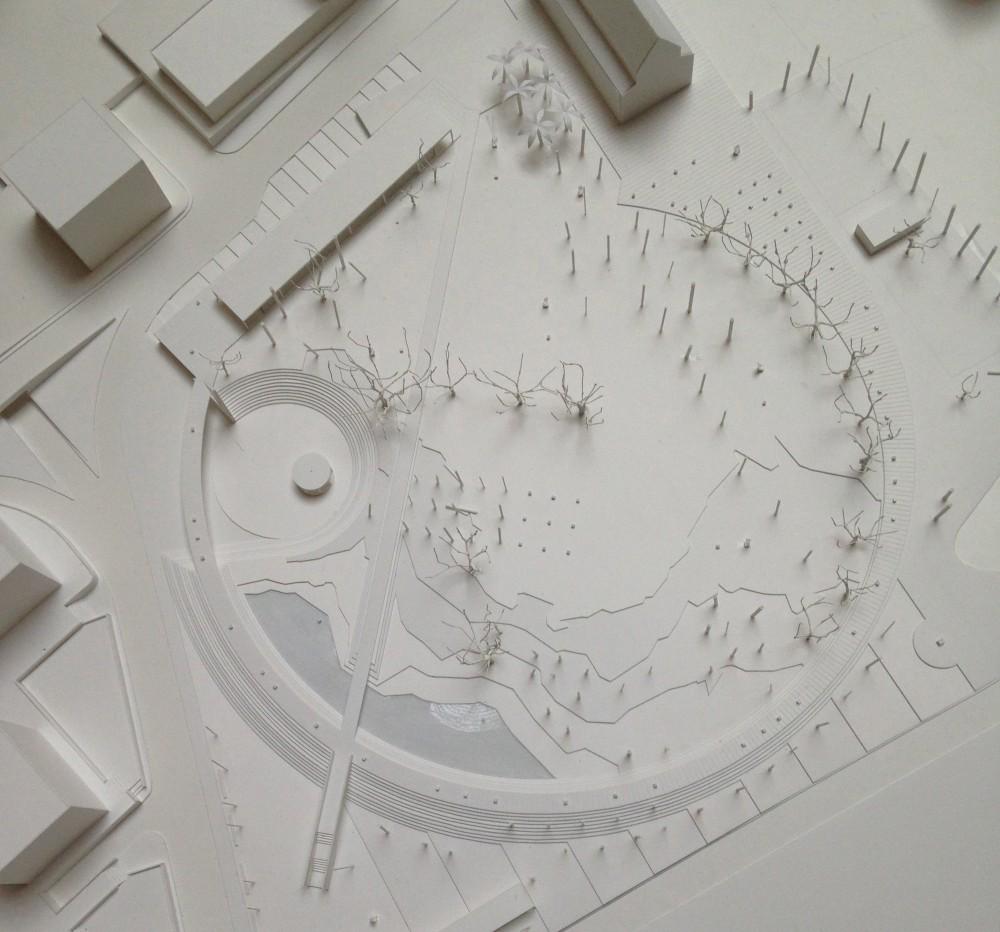 Maqueta Propuesta Lateral. Image © Plataforma Arquitectura