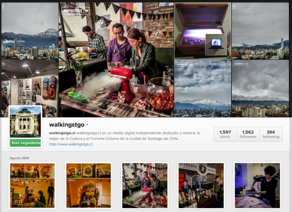 Instagram walkingstgo