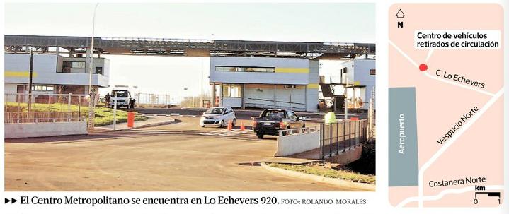 Depósito regional de vehículos en Quilicura