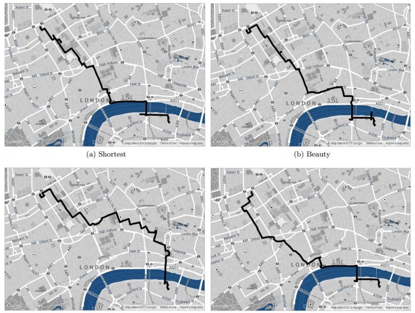 Rutas propuestas por UrbanGems para Londres.