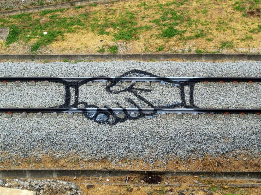 """""""Givin a Hand"""" por Aka Bordalo II."""