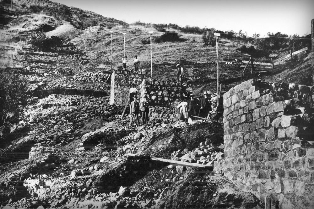 Construccion 1 Funicular San Cristobal - Archivo Parque Metropolitano.