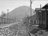 Vista de la calle Seminario de Providencia en Santiago, año 1935.