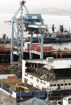 demolición almacén portuario Valparaíso