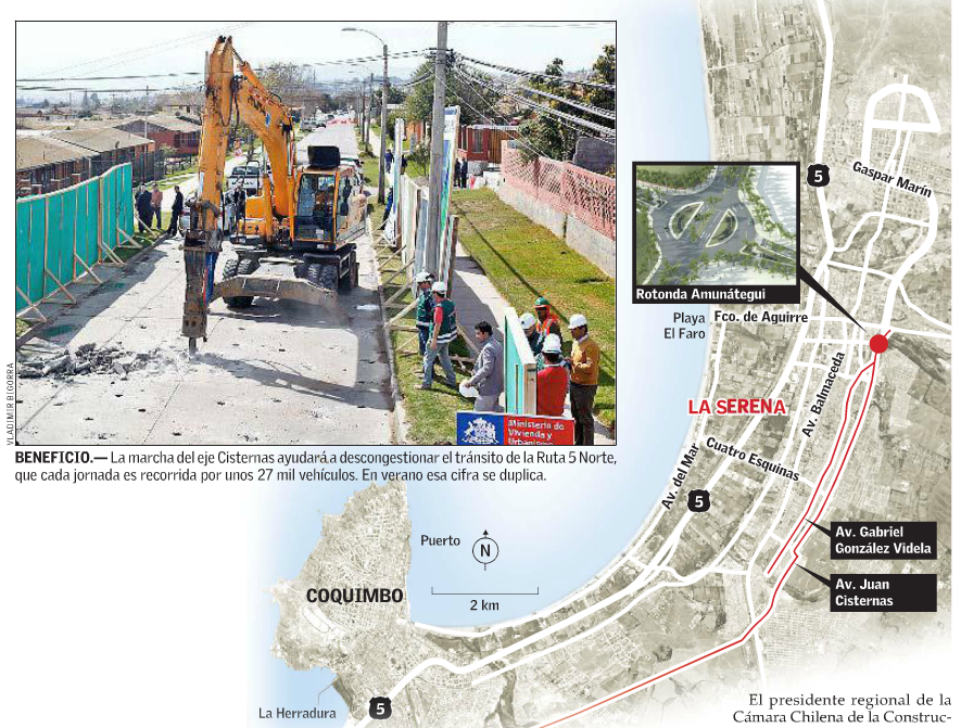 Nueva ruta La Serena Coquimbo