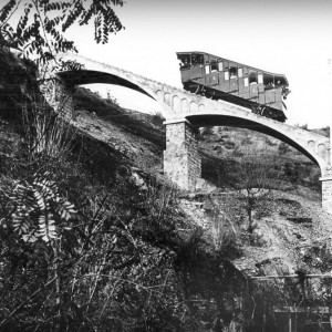 Funicular San Cristóbal - Archivo Parque Metropolitano. Cortesía Lugares de Ciencia.