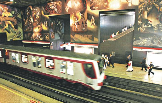 Metro de santiago estaci n universidad de chile l nea 1 for Mural metro u de chile