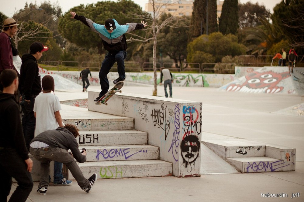 Hyeres Skatepark (Hyeres, Francia) © jeff habourdin, vía Flickr.
