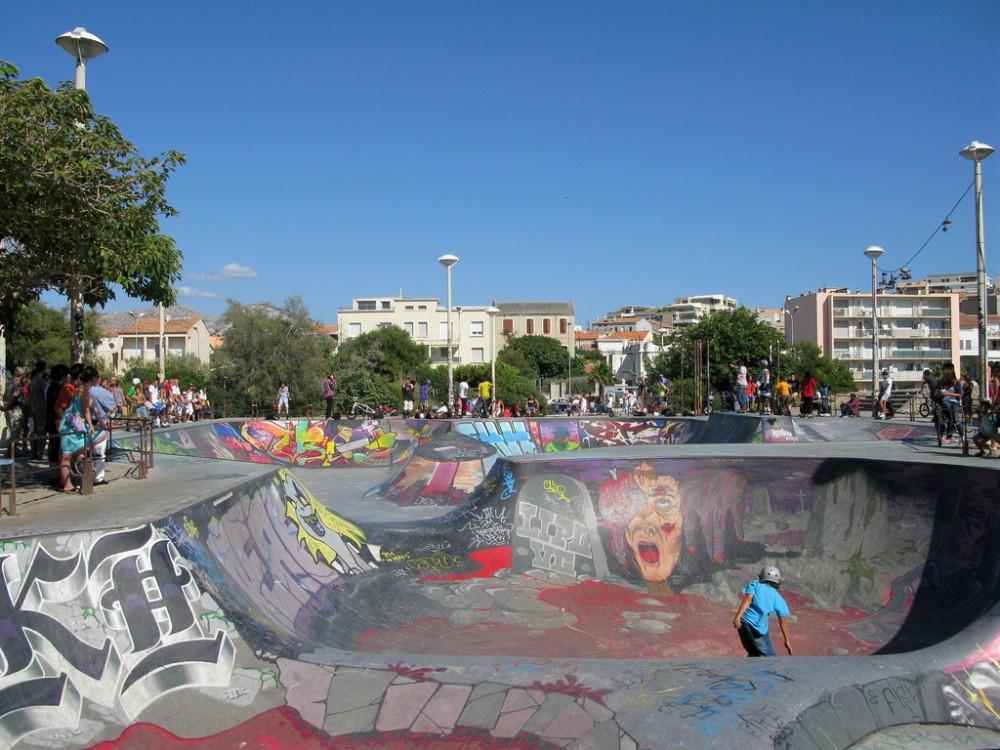 Skatepark de Marsella, Francia © Marionzetta, vía Flickr.