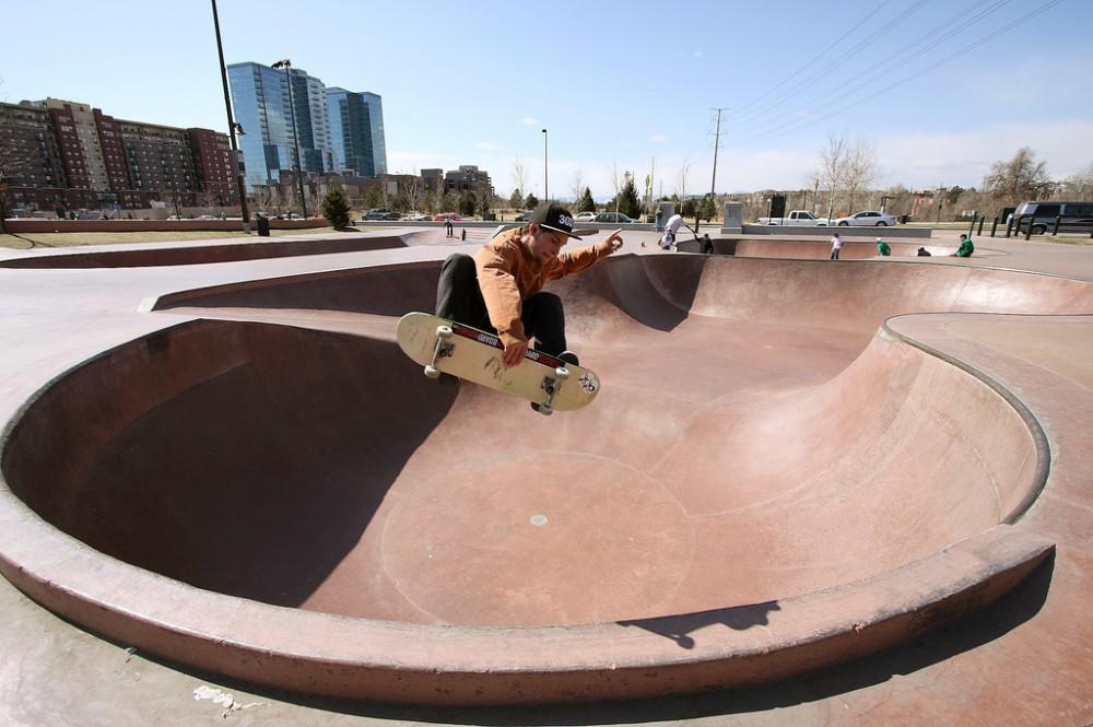 Denver Skatepark. © tgidenver. vía Flickr.