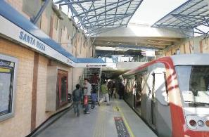 Estación Santa Rosa Línea 4A Metro de Santiago