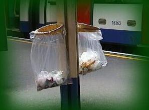 basureros metro de santiago