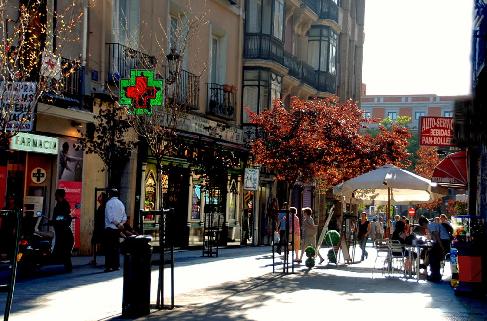 Barrio Las Letras, Madrid. © druidabruxux, vía Flickr.