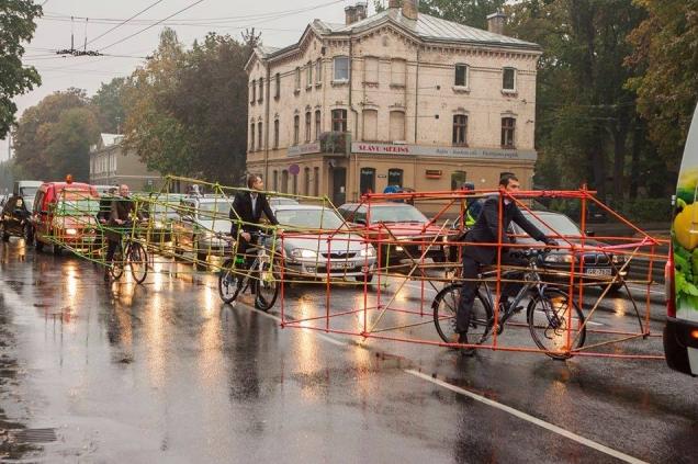 Celebración del Día Mundial Sin Autos en Riga, Letonia. © delfi.lt