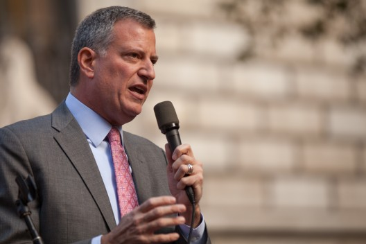 Bill de Blasio, Alcalde de Nueva York. Image © Kevin Case [Flickr]