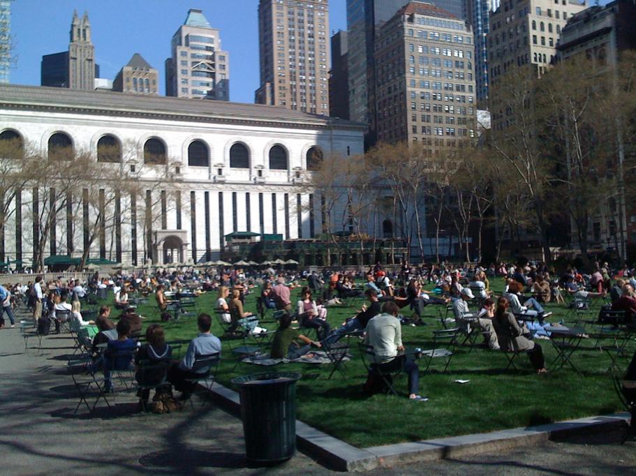 Parque Bryant en Nueva York. © Scurzuzu, vía Flickr.