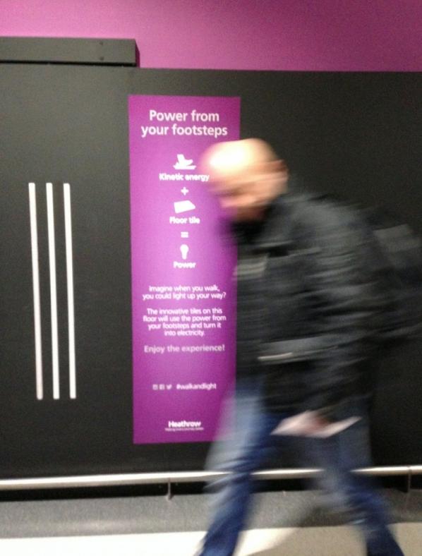 Pavegen Aeropuerto de Heathrow Londres 2