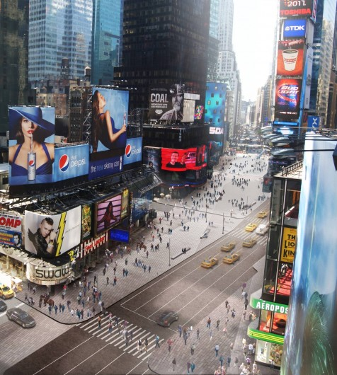 At the beginning of the year, Snøhetta completed the first phase of a plan to pedestrianize Times Square. Image © Snøhetta