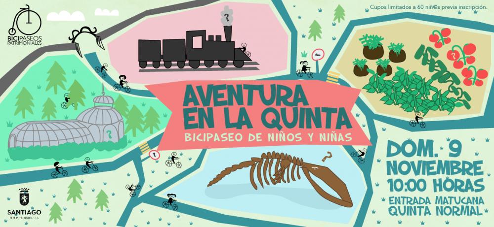 Afiche Bicipaseo Patrimonial Aventura en la Quinta