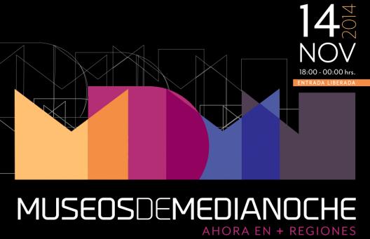Afiche Museos de Medianoche 14 de noviembre 2014