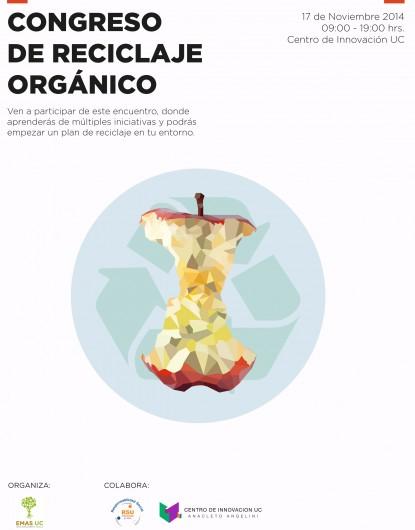 Afiche Congreso de Reciclaje Orgánico UC