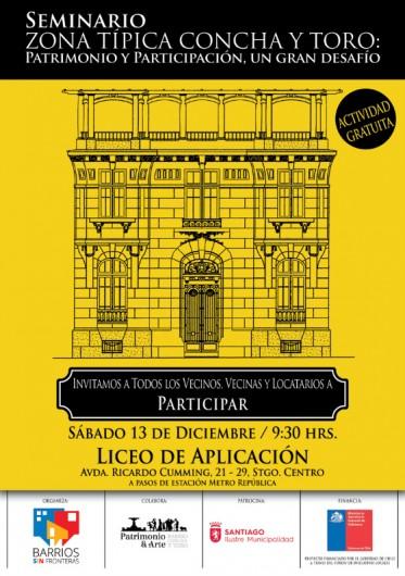 Afiche Seminario Zona Tipica Concha y Toro
