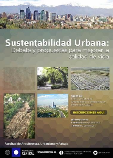 Afiche Sustentabilidad Urbana U Central