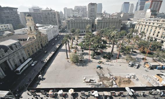 Remodelaicón Plaza de Armas de Santiago