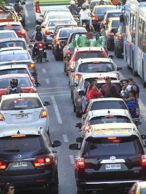 Congestión en Santiago Falla Metro de Santiago