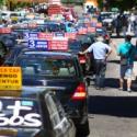 Paro de taxis colectivos en Chile