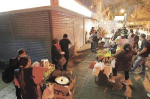 cocinerias en plaza de armas santiago