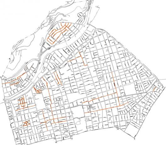 Etapa 1 de la implementación de Zonas 30 en Providencia. Cortesía Municipalidad de Providencia.