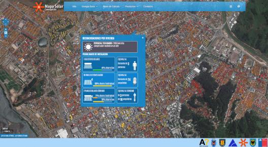 Vivienda con Potencial Solar Alto, Mapa Solar Concepción.