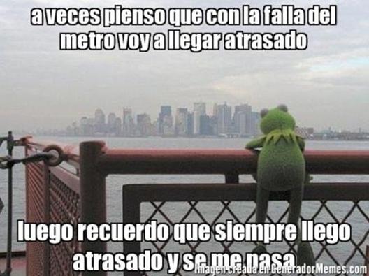 Memes Falla Metro de Santiago 9