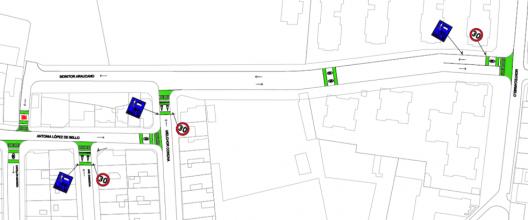 Plano de calle monitor Araucano, Providencia. Cortesía Municipalidad de Providencia.