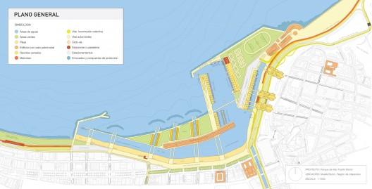 Planta general del anteproyecto Parque de Mar Puerto Barón
