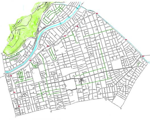 Zonas 30 implementadas en Providencia (hasta el 19/11/14). cortesía Municipalidad de Providencia.