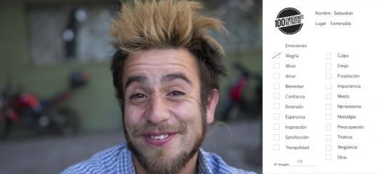 """Cortesía Equipo """"100 emociones, 100 retratos""""."""