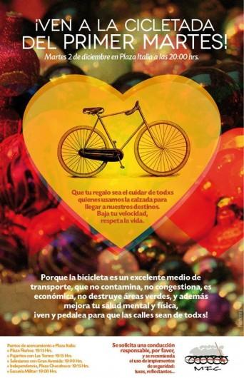 afiche cicletada primer martes diciembre 2014