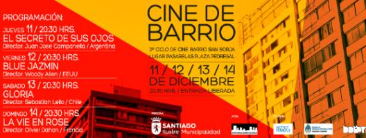 afiche ciclo de cine de barrio san borja
