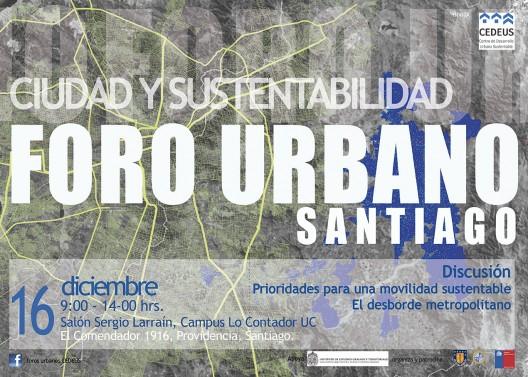 afiche foro urbano de santigo cedeus