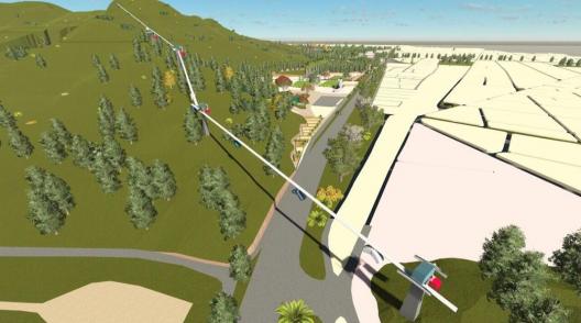 Propuesta para cerro Chena, San Bernardo. Fuente: Intendencia Metropolitana (vía Twitter).