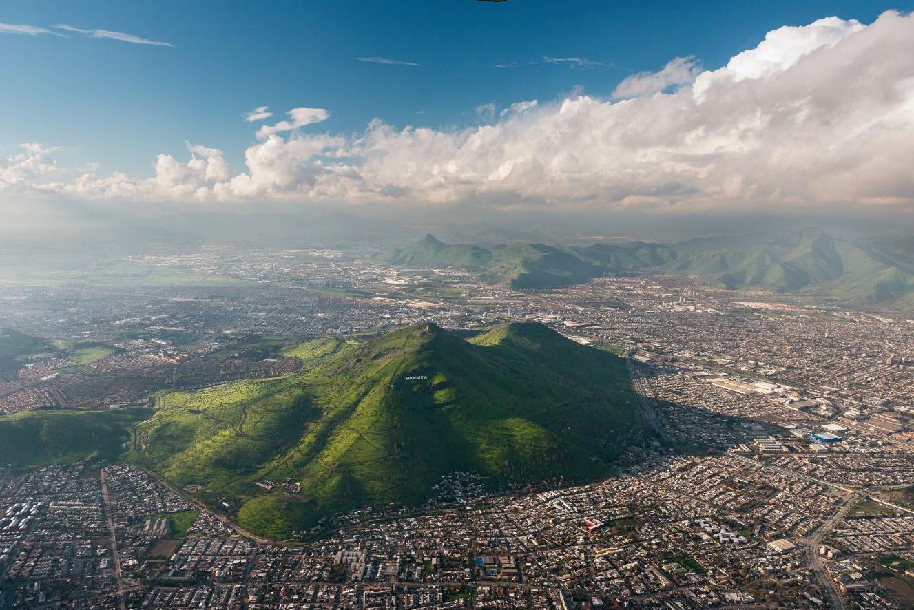 Santiago desde el aire cerro renca plataforma urbana for Viveros en renca