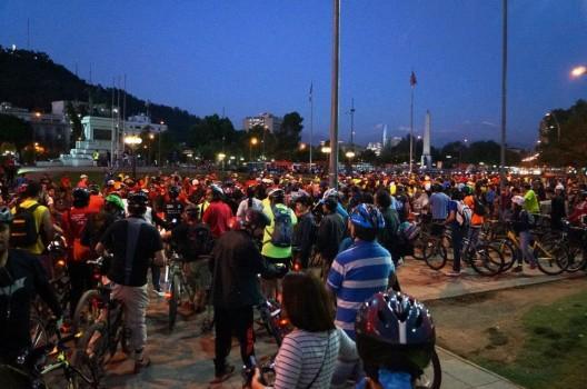 Inicio Cicletada del Primer Martes de Mes (Noviembre 2014). Vía Movimiento Furiosos Ciclistas (Facebook).