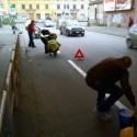 ciclistas pintan ciclovia roma 3