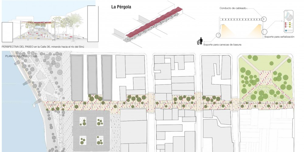 El Paseo del Parque de los Libros. Equipo 'Taller Urbano Bogotá-Viena', 2014.