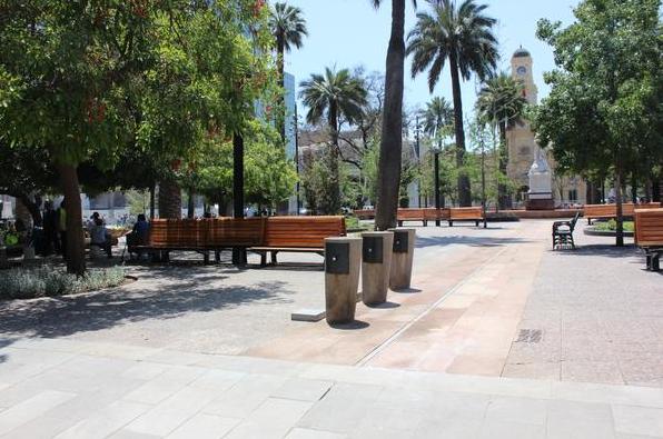 Plaza de Armas de Santiago. © Amplitud de Santiago, vía Twitter.